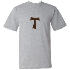 """A brown Tau Cross also kwown as the Crux Commissa. Shaped like a """"T"""". Great for Christians. $24.99 ink.maryandjesus.com"""