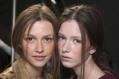 """Make-up artist Laura Dominique was swooning over summer. """"This is a girl who's been away all summer, she's had an amazing holiday and she's back in London with her sunny vibe,"""" #MarquesAlmeida #LFW #SS14 #Topshopsupport #Newgen"""