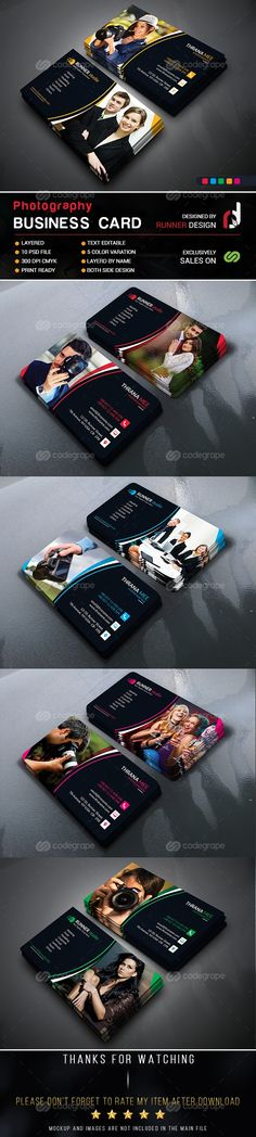 Photography Business Card on @codegrape. More Info: http://www.codegrape.com/item/photography-business-card/8743