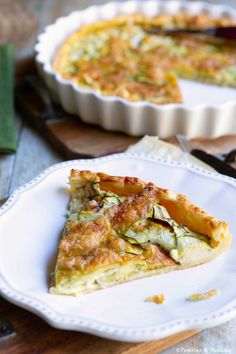 Tarte aux courgettes, mascarpone et mozzarella