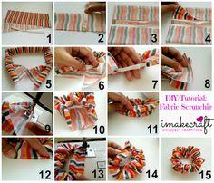 DIY : Fabric Scrunchie www.facebook.com/imakecraft