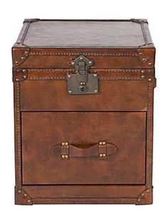 Hemingway Leather 2 Drawer Trunk (No longer available)