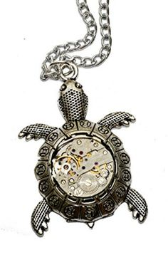 Steampunk Tibetan Silver Turtle Pendant Necklace. Hand Made. #ad #turtle #steampunk