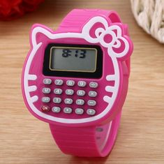 bc61c54d8f Kid Girls Hello Kitty Electronic Calculator Time Date Wrist Watch  Wristwatch New
