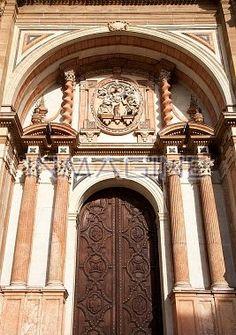 Entrance to cathedral of malaga;malaga,andalusia,spain photo