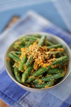 French Beans and Salted Duck Egg Yolks - Ang Sarap