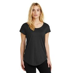 "Alternative Origin Cotton Modal T-Shirt. The opposite of your ""basic"" tee. The Origin mixes a wider, higher neckline and a high-low hem for a contemporary silhouette. 4.42-ounce, 60/40 cotton/modal Relaxed fit Slight drop shoulder detail Scoop neckline with binding detail Shirttail hem Alternative Apparel reserves the right to prohibit the addition to any Alternative Apparel product any mark, name, design or logo that does not meet the high standards of the brand. ..."