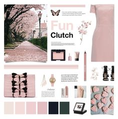 """""""Butterfly Clutch"""" by chebear ❤ liked on Polyvore featuring Nancy Gonzalez, Raey, Zimmermann, Stila, NARS Cosmetics, Essie, Urban Decay, Topshop, Charlotte Russe and clutches"""