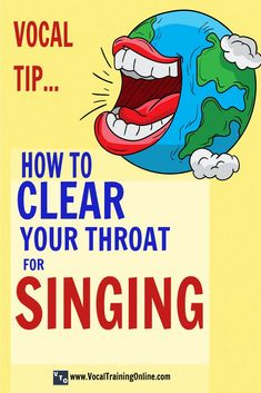 Fact: You can clear your throat for singing the right way. - Learn how to clear your throat for singing at the Vocal Training Online website. Sing with a clear voice with this vocal technique. Vocal Lessons, Singing Lessons, Singing Tips, Music Lessons, Guitar Lessons, Art Lessons, Vocal Training, Training Online, Singing Training