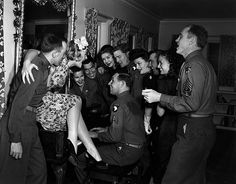 Betty Hutton and friends at the Hollywood Canteen