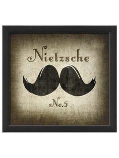 Nietzsche Moustache by Artwork Enclosed on Gilt Home