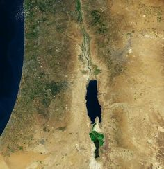 Dead Sea from space