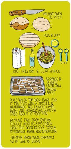Homemade Baked Fries -- Yum! | http://illustratedbites.wordpress.com/