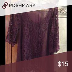 Purple lace long top Purple lace long top Tops Blouses