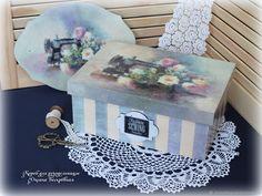 Купить Короб для рукоделия - шкатулка, ручная работа, авторская работа, подарок для девушки, подарок для девочки