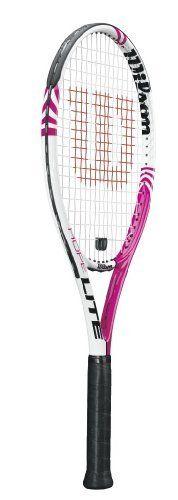 Wilson Hope Lite Strung Adult Recreational Tennis Racket (White/Pink, 4 1/4) by Wilson. $49.95