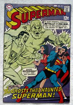 Superman #214 (Feb 1969, DC) VG/F 5.0