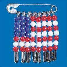 Safety Pin American Flag Pin - made these for our Veterans over several weeks and then gave out at a Veterans Day Service.