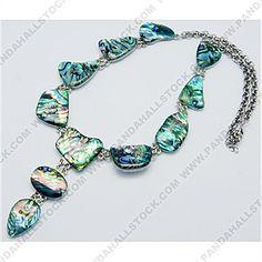 Green Handmade Paua Shell Necklaces,