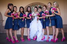 blue and pink wedding | Pink and Blue Wedding | wedding inspiration