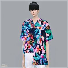 SIMS4 Marigold: Male Hawaiian Shirts Unbalance • Sims 4 Downloads