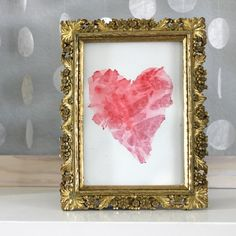 Learn how to make beautiful watercolor hearts with a faceted gem texture.