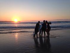 Surf at the sunset. Loredo