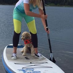 First paddle ever for this little rescue dog!!