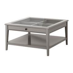 LIATORP Coffee table - grey/glass - IKEA