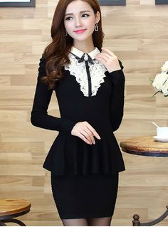 Fabric: GauzeColors:As PictureFree Size: chest waist Length women dress Fashion Black, New Fashion, Womens Fashion, Wedding Bridesmaids, Bridesmaid Dresses, Wedding Dresses, Gauze Dress, Peplum Dress, Kawaii Clothes