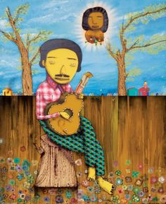 i am obsessed with the twin brother brazilian street artists, os gemeos. that means twins in portuguese.