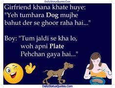 Girfriend khana khate huye  Daily Status Quotes