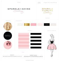 Sparkle and Shine Darling Logo Design Brand Board - Saffron Avenue
