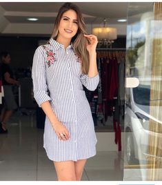 Swans Style is the top online fashion store for women. Casual Formal Dresses, Casual Dresses For Women, Cute Dresses, Short Dresses, Frock Fashion, Fashion Dresses, Shweshwe Dresses, Dress With Sneakers, Skirt Outfits