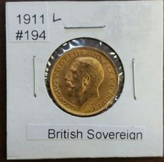 Striking 1911 British Gold Sovereign Gold Coin  No Mint Mark https://www.world-coin-collector.com/product/1911-british-gold-sovereign-gold-coin-no-mint-mark/ #RareCoins #GoldCoins