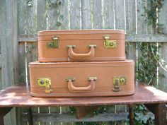Vintage Luggage Set $50