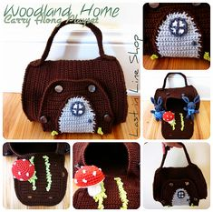 Ravelry: Woodland Home Carry-Along Playset pattern by Carolyn Michelle, available for purchse. Oh my word. How cute is this?! And I love that it comes with it's own carrying bag! Too too adorable!
