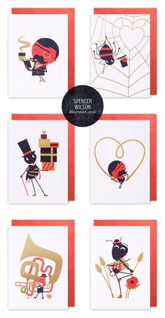 Illustrated Greeting Cards by Spencer Wilson for Lagom