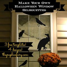 DIY: Halloween Window Silhouette Templates