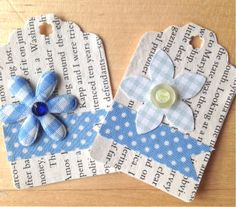 Handmade paper tag (set of 4) from my Etsy store https://www.etsy.com/ch-en/shop/ShabbyWoodSara?ref=si_shop