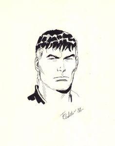 FABIO CIVITELLI - Mister No disegno inedito 1984 Comic Art