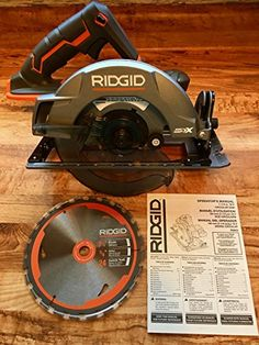 Ridgid Genuine OEM Cordless Lithium Ion Brush Motor 7 Inch Circular Saw (Batteries Not Included, Power Tool and Single Blade Only) - Products Lists of Tools and Hardware Best Home Office Desk, Modern Office Desk, Woodworking At Home, Woodworking Books, Best Cordless Circular Saw, Circular Saw Reviews, Best Drums, Table Saw Stand, Compound Mitre Saw