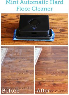 Never mopping my floors again! The Mint Automatic Hard Floor Cleaner dry sweeps AND wet mops. It uses GPS to keep track of where it has been and where it needs to go, so every inch of the floor gets cleaned efficiently.