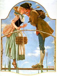 "Norman Rockwell ""Milkmaid"" (1931)"