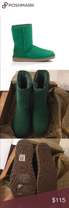 UGG authentic classic short pine boots Sz 9 new UGG authentic classic short pine boots Sz 9 new 100% AUTHENTIC STYLE 5825 SMARTPHONE QR READER SCANNABLE TAG FOR AUTHENTICITY UGG Shoes
