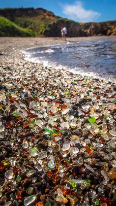 cristal en la playa de California, Glass Beach