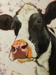 Drunken Cows - Whimsical Fine Art by Roz by jan Cow Painting, Painting & Drawing, Painting Process, Art And Illustration, Cow Pictures, Cow Pics, Farm Art, Cow Art, Watercolor Animals