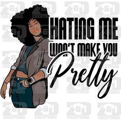 Black Love Art, Black Girl Art, My Black Is Beautiful, Black Girls Rock, Black Girl Magic, Natural Hair Art, Pelo Natural, Natural Hair Styles, Black Women Quotes