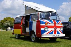 Word Flag VW Campervan Bus