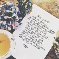 """Studien über die Hoffnung, Teil 1 // """"Land in Sicht"""" #kalligrafie #poesie #handlettering #lyrik #deutsch #hoffnung #glaube #gedicht #gedichte"""